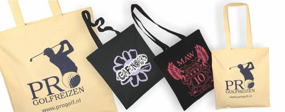 Katoenen tassen bedrukt met uw logo
