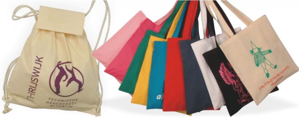 Linnen tassen met uw eigen ontwerp